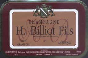 H. Billiot Fils, Grand Cru, Brut Rosé